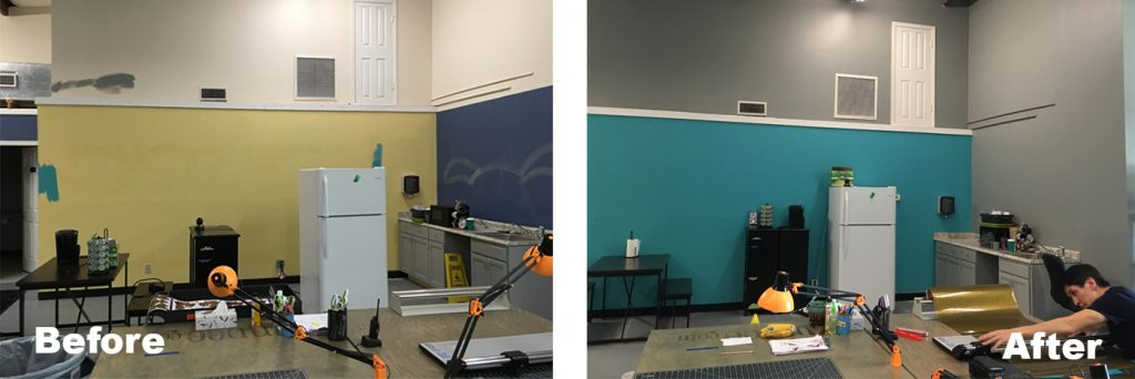 Before and After of Terra Building Group's Painting Services in Pensacola Florida